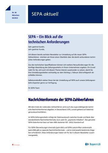 SEPA aktuell - Bayerische Landesbank