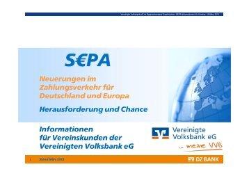 Präsentation zur SEPA-Veranstaltung für Vereine (PDF, 795 KB)
