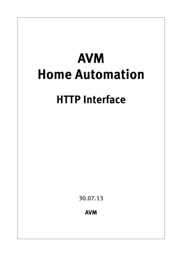 AVM Home Automation
