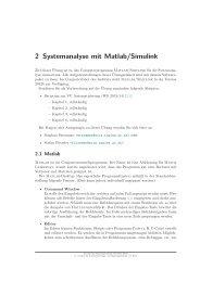 2 Systemanalyse mit Matlab/Simulink - ACIN