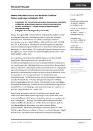 Pressemitteilung 23.08.2013 - Börse Stuttgart