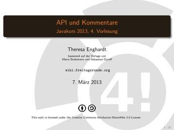 API und Kommentare - Index of - Freitagsrunde