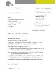 Servatius, Prof. Dr. Wolfgang, Universität Regensburg - Deutscher ...
