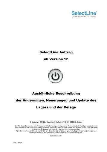 Achtung Update Lager und Belege - SelectLine