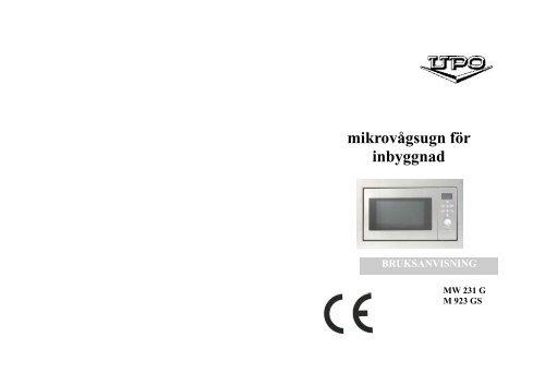 Microwave user manual_23.2_Sweden - Elon