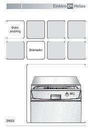 Bruks- anvisning Diskmaskin DI8525 - Elon