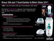 Braun Silk-epil 7 Dual Epilator & Bikini Styler 2011 - Elon