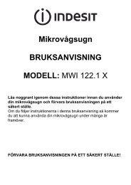 Mikrovågsugn BRUKSANVISNING MODELL: MWI 122.1 X - Elon