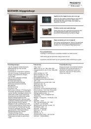 QCE5445K Inbyggnadsugn - Hemexperten