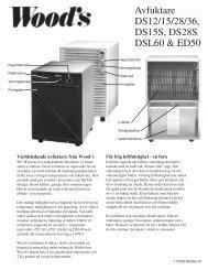 Avfuktare DS12/15/28/36, DS15S, DS28S DSL60 & ED50 - Elon