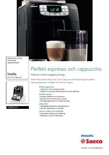 HD8753/11 Philips Automatisk espressomaskin - Hemexperten