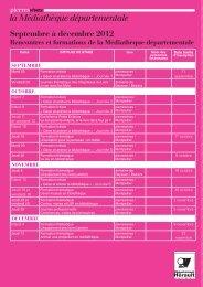 Voyelles - formations/calendrier stages - n°18 - Conseil Général de l ...