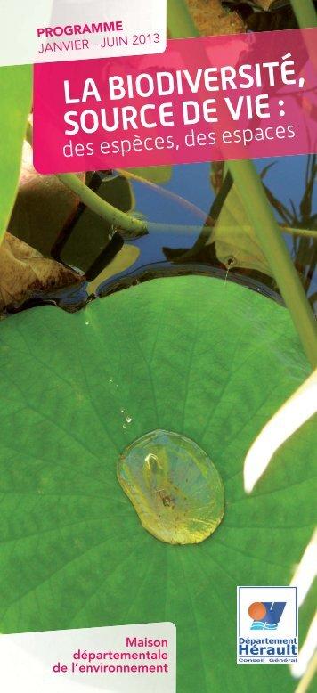 Programme 1er semestre 2013 / La biodiversité, source de vie