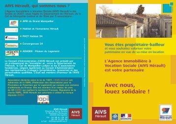 L'Agence Immobilière à Vocation Sociale - (AIVS Hérault) - Conseil ...