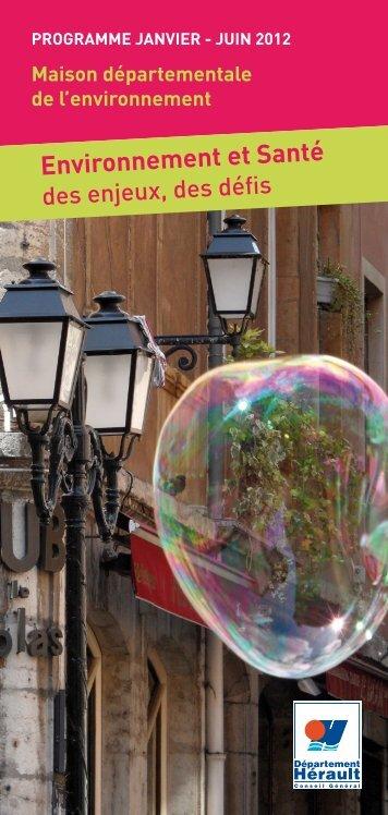 environnement et Santé - Conseil Général de l'Hérault