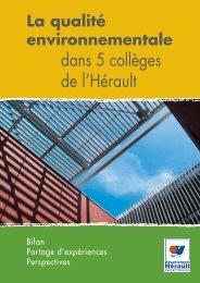 collèges HQE - Conseil Général de l'Hérault