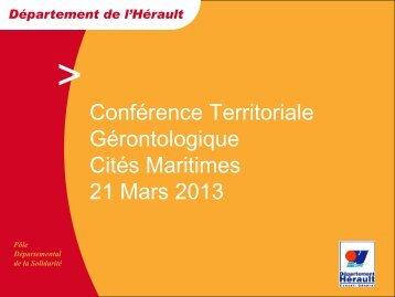 Conférence Territoriale Gérontologique Cités Maritimes 21 Mars 2013