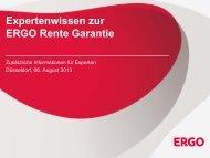 Expertenwissen zur ERGO Rente Garantie