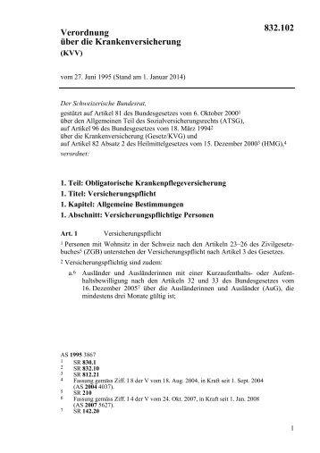 Verordnung über die Krankenversicherung 832.102 - admin.ch