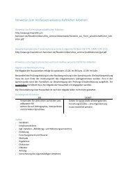Hinweise zum Verfassen wissenschaftlicher Arbeiten