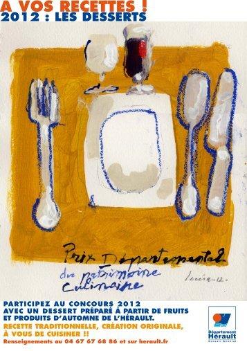 Prix départemental du patrimoine culinaire 2012