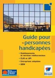 Guide pour les personnes handicapées - Conseil Général de l'Hérault
