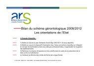Bilan du schéma gérontologique 2008/2012 - Conseil Général de l ...