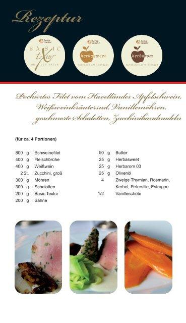 """Rezeptur """"Pochiertes Filet vom Havelländer ... - herbacuisine"""