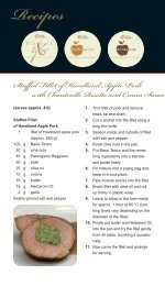 Recipes Stuffed Fillet of Havelland Apple Pork with ... - herbacuisine