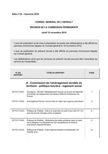 RAA 023 - Conseil Général de l'Hérault