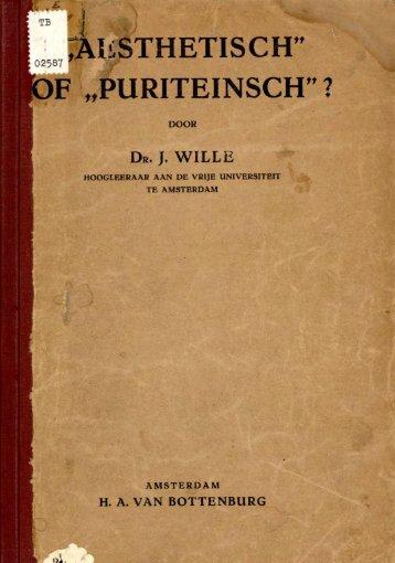 """AeSTHETISCH"""" OF """"PURITEINSCH' ? - VU-DARE Home"""