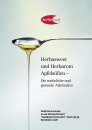 Herbasweet und Herbarom Apfelsüßen - Herbafood Ingredients GmbH