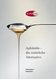 Apfelsüße – die natürliche Alternative - Herbafood Ingredients GmbH