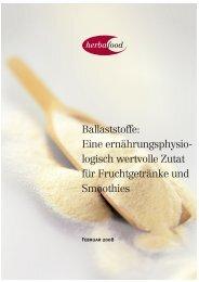 Ballaststoffe - Herbafood Ingredients GmbH