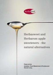 Herbasweet and Herbarom apple sweeteners - Herbafood ...