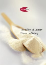 The Effect of Dietary Fibres on Satiety - Herbafood Ingredients GmbH