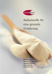 Ballaststoffe für eine gesunde Ernährung - Herbafood Ingredients ...