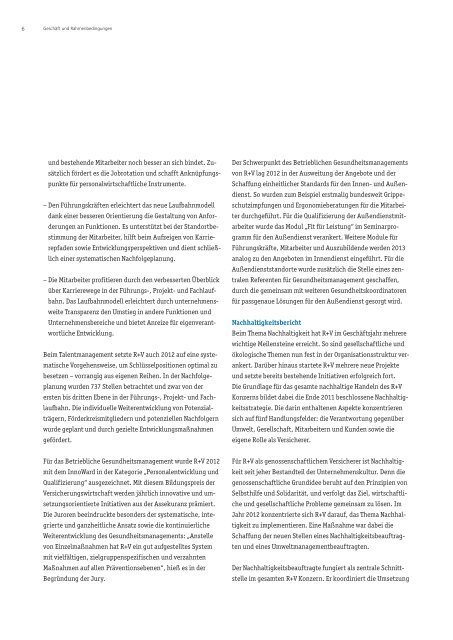 Geschäftsbericht 2012 R+V Allgemeine Versicherung AG
