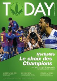 Le choix des Champions - Herbalife Today Magazine