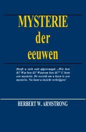 MYSTERIE der eeuwen - Herbert W. Armstrong Library and Archives