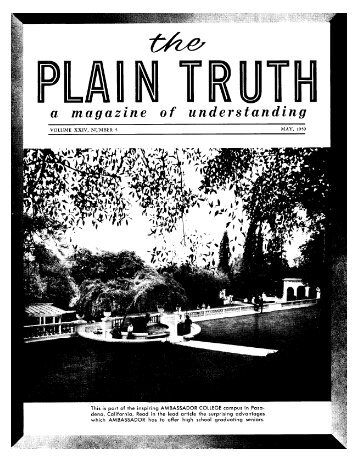 "Plain Truth 1959 (Vol XXIV No 05) May - And He said to them, ""Go ..."