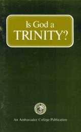 Is God a Trinity - Herbert W. Armstrong Library and Archives