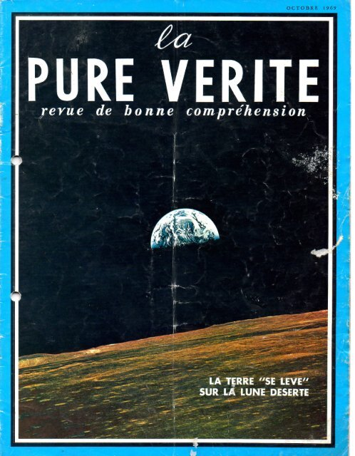 Pure Verite 1969 (No 10) Oct - Herbert W. Armstrong Library and ...