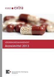 Verordnungsmanagement Arzneimittel 2013 - Kassenärztliche ...