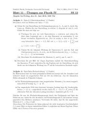 Blatt 11 – ¨Ubungen zur Physik IV SS 13 - Delta - TU Dortmund