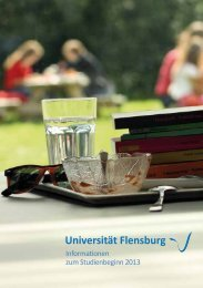 Uni-Infoheft 2013 - Studierendenportal Flensburg