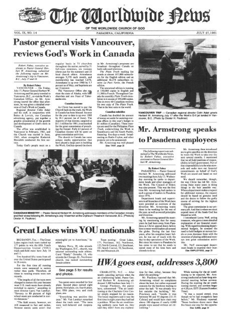 WWN 1981 (No 14) - Herbert W. Armstrong Library and Archives