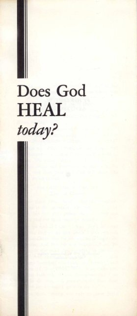 Does God Heal Today? - Herbert W. Armstrong Library and Archives