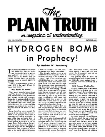 Plain Truth 1955 (Vol XX No 08) Oct - Herbert W. Armstrong Library ...