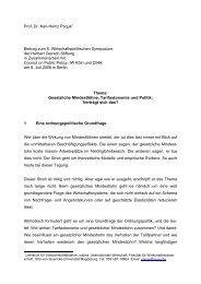 Prof. Dr. Karl-Heinz Paqué* Beitrag zum 6. Wirtschaftspolitischen ...